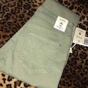 Green forever 21 skinny jeans
